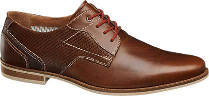 AM shoe Cognac geklede leren veterschoen