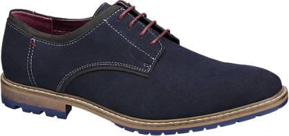 AM shoe Donkerblauwe veterschoen
