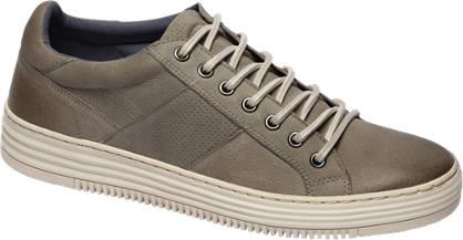 AM shoe Grijze leren sneaker perforatie