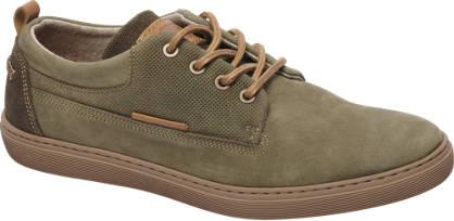 AM shoe Khaki suède sneaker perforatie