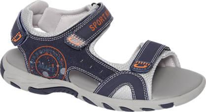 Agaxy Grijze sandaal klittenband
