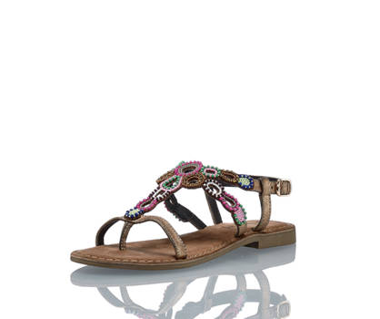 Lazamani Amani Damen Flache Sandalette