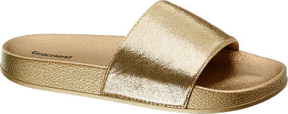 Graceland Aranyszínű papucs