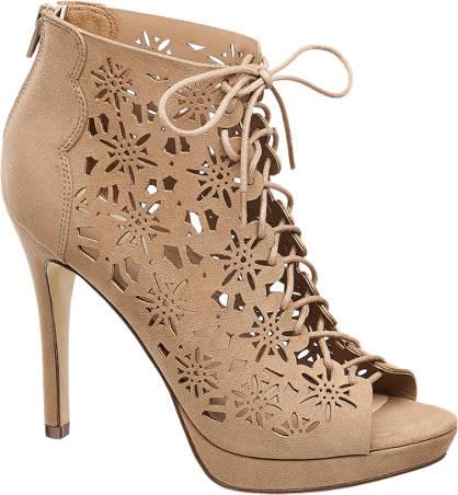 Graceland szpilki peep toe