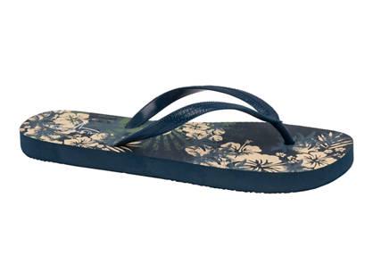 Blue Fin Floral Flip Flop