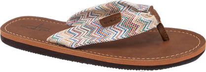 Blue Fin Patterned Toe Post Sandal