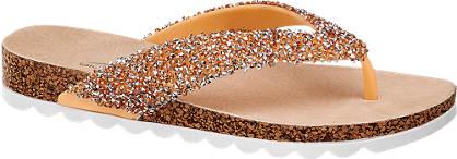 Blue Fin Glitter Toe Post Sandal