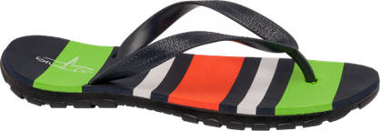 Blue Fin Striped Flip Flop