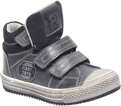 Bobbi-Shoes Blauwe leren boot klittenband