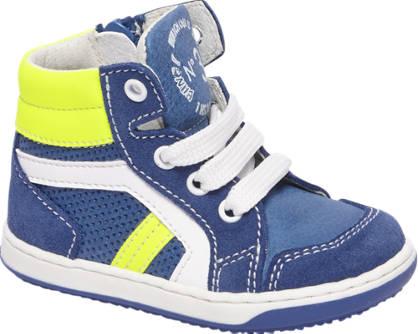 Bobbi-Shoes Blauwe leren sneaker ritssluiting
