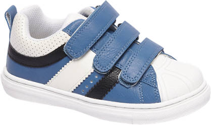 Bobbi-Shoes Blauwe sneaker perforatie