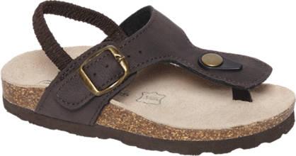Bobbi-Shoes Bruine sandaal elastiek