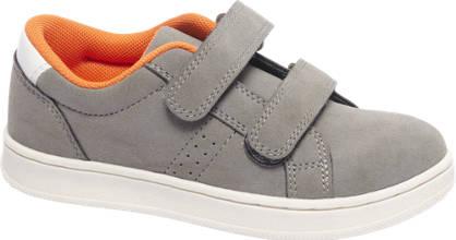 Bobbi-Shoes Grijze sneaker klittenband