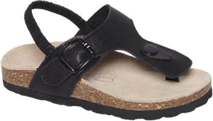 Bobbi-Shoes Zwarte sandaal elastiek