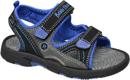 Bobbi-Shoes Zwarte sandaal klittenband