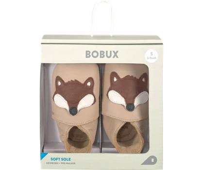 Bobux New Zealand Bobux Fox Kinder Slipper Beige