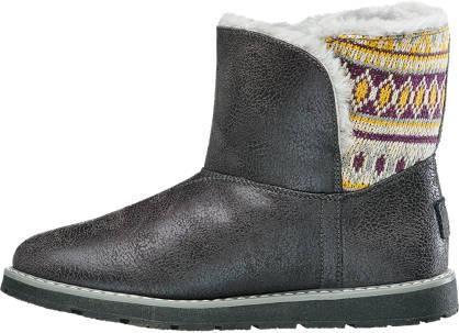 Skechers Boots grau, gelb, bordeaux