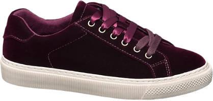 Graceland Bordó bársony sneaker