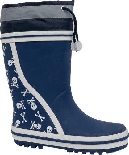 Reflective Skull Print Welly