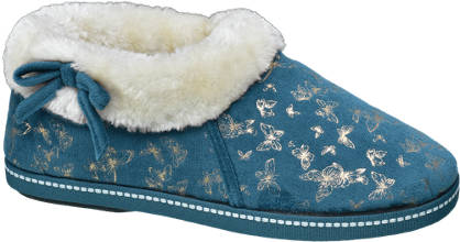 Casa mia Ladies Butterfly Print Slippers