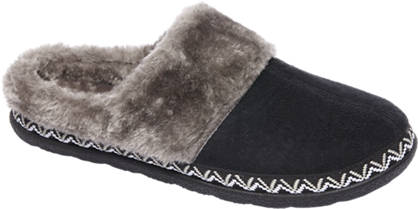 Casa mia Ladies Faux Fur Lined Slippers