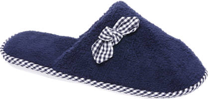 Casa mia Blauwe pantoffel sierstrik