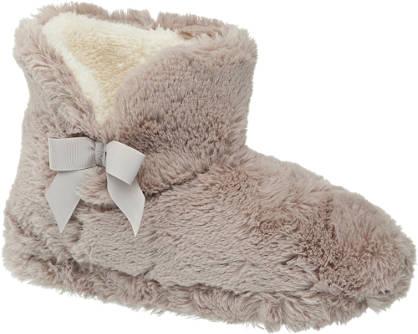 Casa mia Taupe pantoffel warmgevoerd