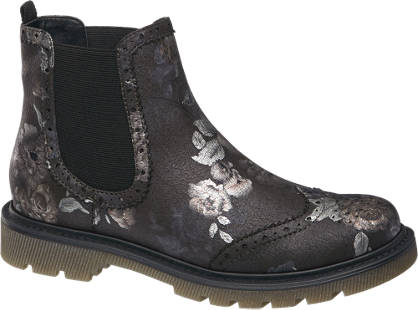 Catwalk Floral Chelsea Boots