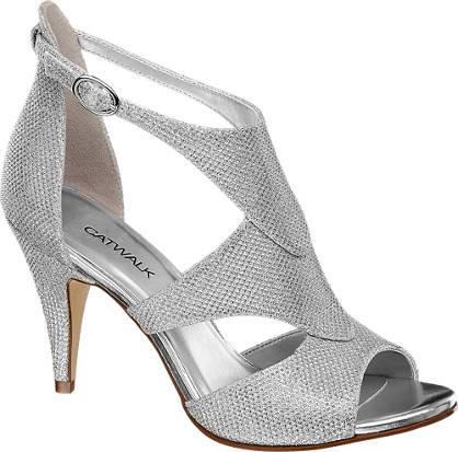 Catwalk Glitter Sandal Heel
