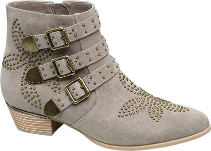 Catwalk Studded Western Ankle Boots