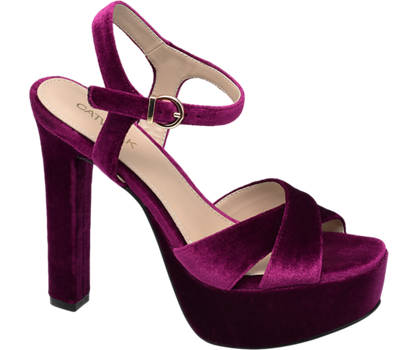 Catwalk Velvet Platform Heels
