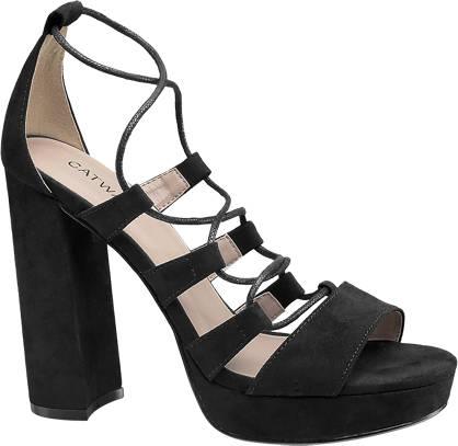 Catwalk Ghillie Ankle Tie Platform Sandals