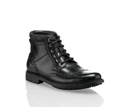 Clarks Clarks Curington Rise boot à lacet hommes noir