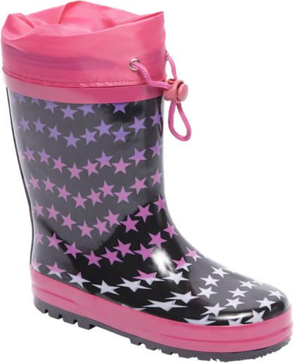 Cortina Zwarte regenlaars sterren print