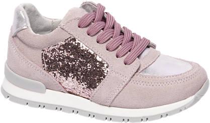 Cupcake Couture Roze leren sneakers pailletten