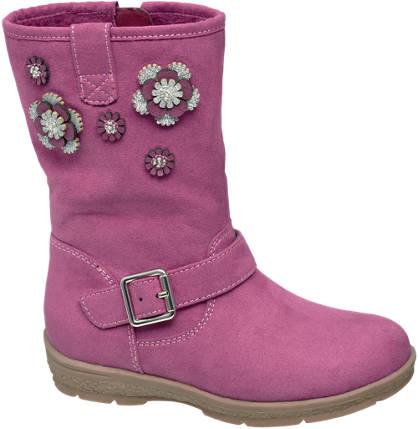 Cupcake Couture Toddler Girl Flower Detail High Leg Boots