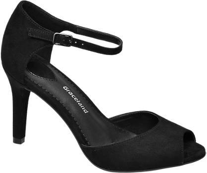 Graceland sandały peep toe