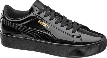 damen lack sneakers vikky platform von puma in schwarz. Black Bedroom Furniture Sets. Home Design Ideas