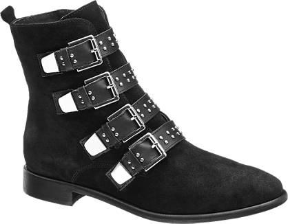 5th Avenue Leder Boots mit Nieten-Dekor