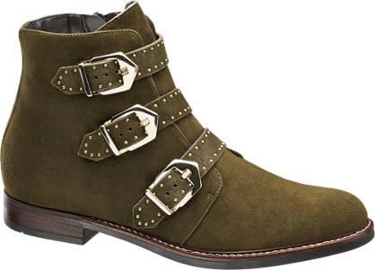 5th Avenue Leder Boots mit Schnallen