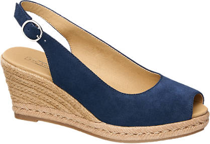 5th Avenue Leder Keil Sandaletten