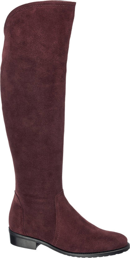 5th Avenue Leder Overknee Stiefel