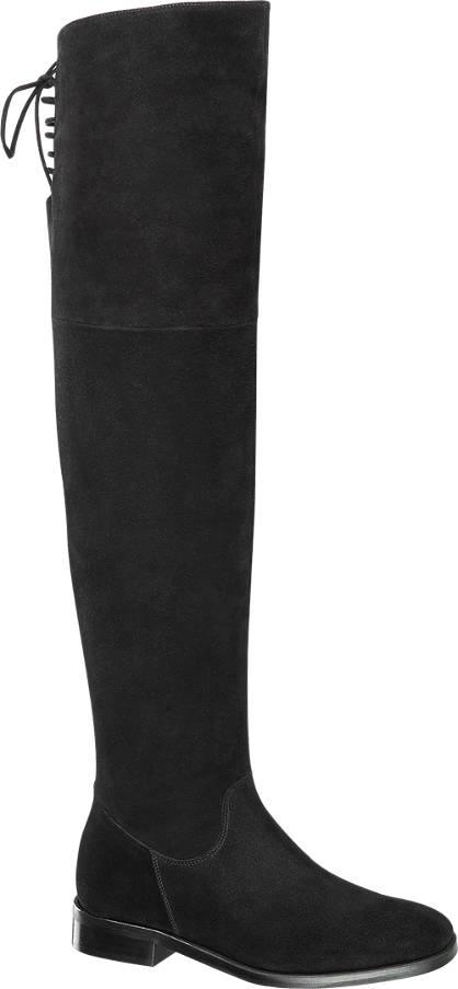 5th Avenue Leder Overknee-Stiefel