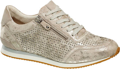 5th Avenue Leder Sneakers im Metallic-Design