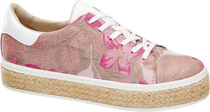 Catwalk Leinen Plateau Sneakers
