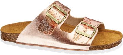 Graceland Pantoletten im Metallic-Design