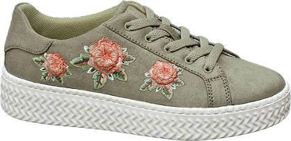Graceland Plateau Sneakers mit Blumen-Design