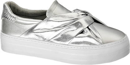 Star Collection Slip On Sneakers im Metallic-Design