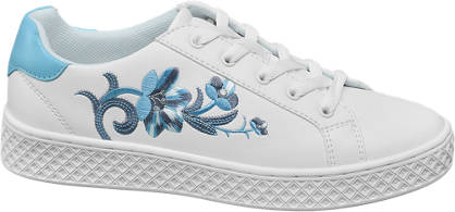 Graceland Sneakers mit Blumen-Applikation