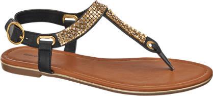 Graceland Zehentrenner Sandaletten mit Nieten Dekor
